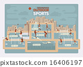 Outdoor sports info graphics 16406197