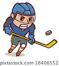 矢量圖 冰球 棍棒 16406552