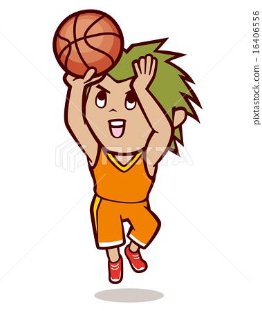 Basketball shoot illustration 16406556