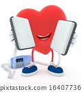 Heart with defibrillator 16407736