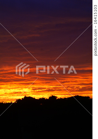 Sunset sky evening twilight time 16415103