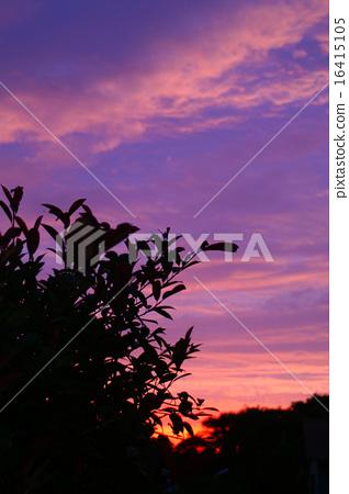 日落天空晚上暮色時間 16415105