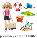 Hipster girl 16418865