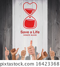 Composite image of blood donation 16423368
