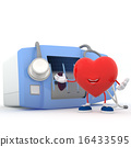 Heart with electrocardiogram device 16433595
