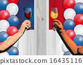 Bastille Day (Board and flag and wine) 16435116