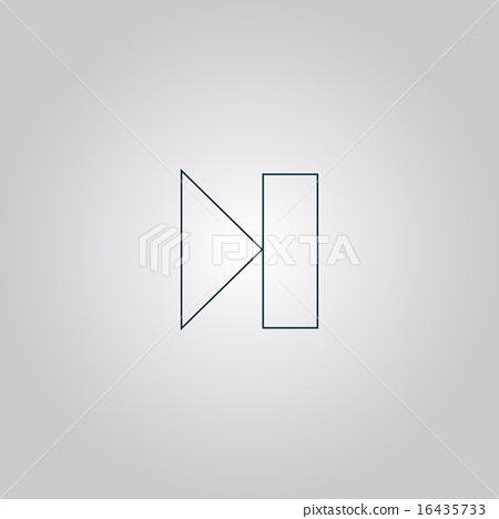 Next track web icon. Media player. 16435733