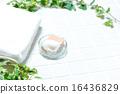 버스 이미지 (타일, 비누, 유리 비누 접시, 수건, 아이비) 16436829
