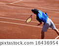 Tennis on clay court [Serve] 16436954