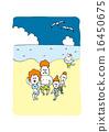海上的家庭照片 16450675