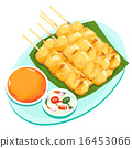 Pork grill with curry and coconut milk vector 16453066