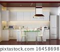房屋 住宅的 廚房 16458698