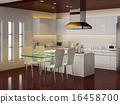 房屋 住宅的 廚房 16458700