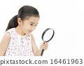 돋보기, 어린이, 아이 16461963