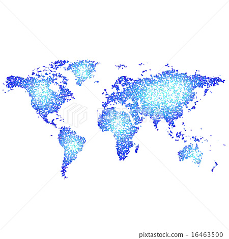 Abstract World Map Stock Illustration 16463500 Pixta