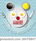 smiling mouse make with fried eggs and bacon 16470847