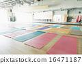 yoga mat, gym, sports club 16471187