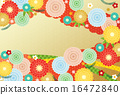 Background material - sum, chrysanthemum, plum 16472840