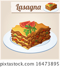 Detailed Icon. Lasagna. 16473895