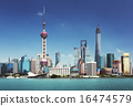 Shanghai skyline in sunny day, China 16474579