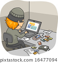 Man Thief Credit Card Fraud Online 16477094