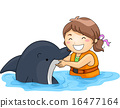 Kid Girl Dolphin 16477164