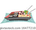 Japanese Tempura Sushi Maki 16477210