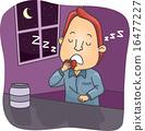 Man Sleep Eating 16477227