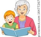 Grandma Reading to Her Grandson 16477267
