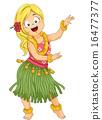 Girl Hula Dance 16477377