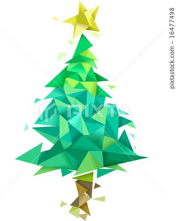 Christmas Tree Geometric Design Stock Illustration 16477498 Pixta