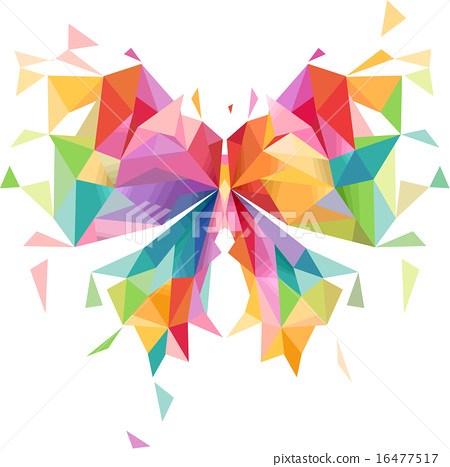 abstract butterfly geometric design�������� 16477517 pixta
