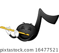 Mascot Music Note Flute 16477521