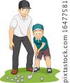 Kid Boy Golf Coach 16477581