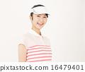 골프웨어를 입고 웃는 여성 16479401