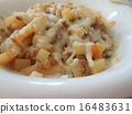 ground meat, white dishes, excellent 16483631