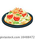 spicy popular papaya Thai salad vector 16488472