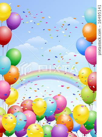 氣球背景與氣球的節日背景 16495141