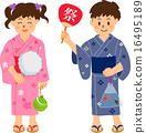 庙会 夏祭 小孩 16495189