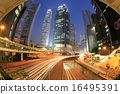 central business district at night, Hong Kong 16495391
