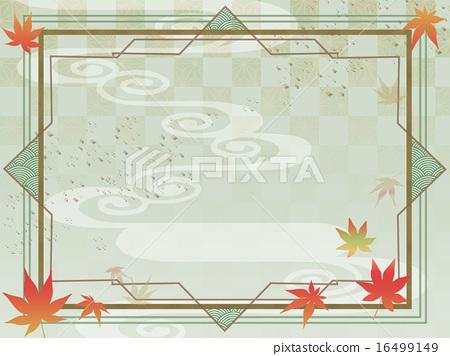 Autumn Momiji Japanese Style Art Deco Stock Illustration 16499149 Pixta