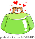 cute bear love apple tasty jelly vector . 16501485
