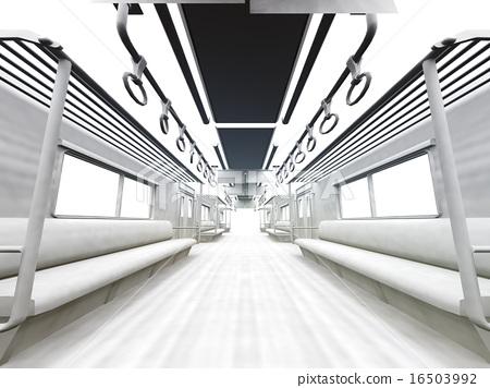 白色的通勤列車 16503992