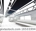 白色的通勤列車 16503994