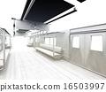 白色的通勤列車 16503997