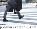 발밑, 걷다, 횡단 보도 16504171