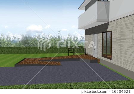The entrance with slope corresponding to wheelchair 16504621