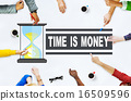 Time Money Hour Glass Casual People Concept 16509596