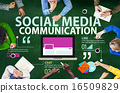 Social Media Social Networking Technology Connection Concept 16509829