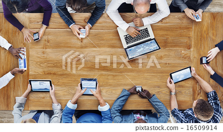 Group of Business People Using Digital Devices 16509914